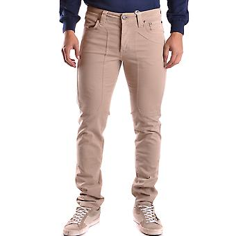 Jeckerson Ezbc069007 Men's Beige Cotton Jeans