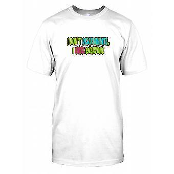 Je ne discriminent pas I Hate Everyone - Citation drôle Hommes T-shirt