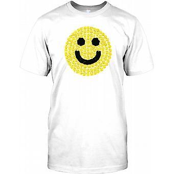 Smiley-Gesicht - Cool Acidhouse inspirierte Herren T Shirt