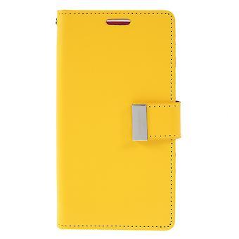 Mercury GOOSPERY rikas päivä kirja Samsung Galaxy S10e-keltainen