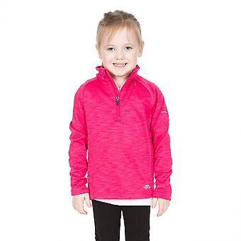 Trespass ragazze Celina Supersoft Mezza Zip Fleece Jacket Top