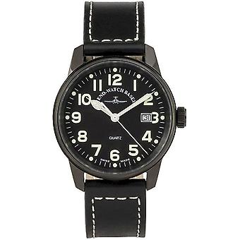 Zeno-Watch Herrenuhr Classic Pilot Date black 3315Q-bk-a1