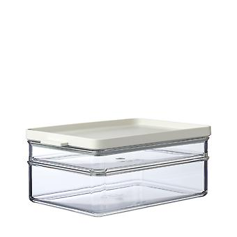 Mepal Omnia Breakfast Duo Layer Storage Box, Nordic White