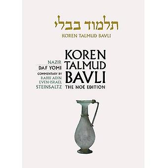 Koren Talmud Bavli - Nazir - English - Daf Yomi - Vol. 19 by Adin Stein