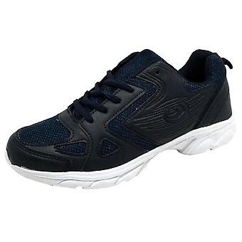 H&X Men's Lightweight Breathable Casual Trainers Navy
