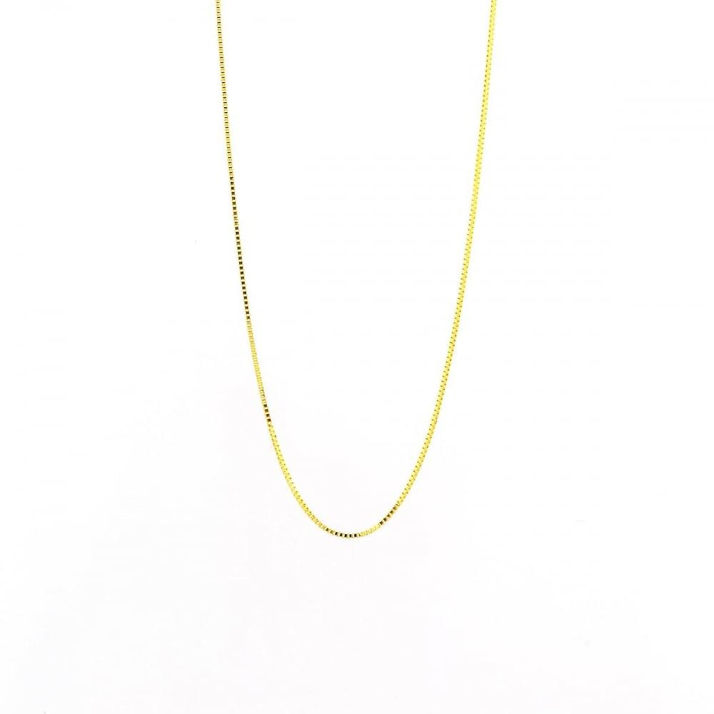 Eternity 9ct Gold 16''/18'' Adjustable Box Chain