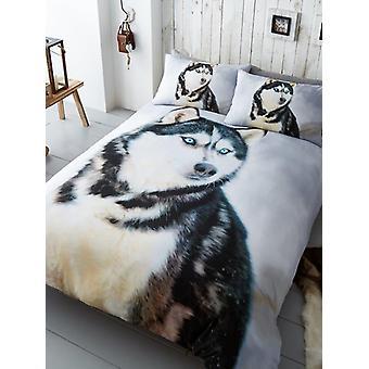 Husky Hund Bettbezug und Kissenbezug Set
