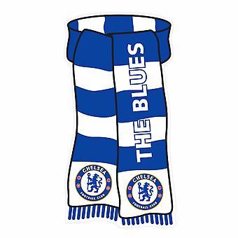 Chelsea FC virallinen huivi muotoinen Näytä värit metalli merkki