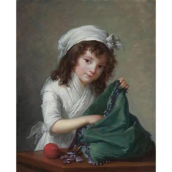 Mademoiselle Brongniart,Elisabeth Vigee Le brun,50x40cm