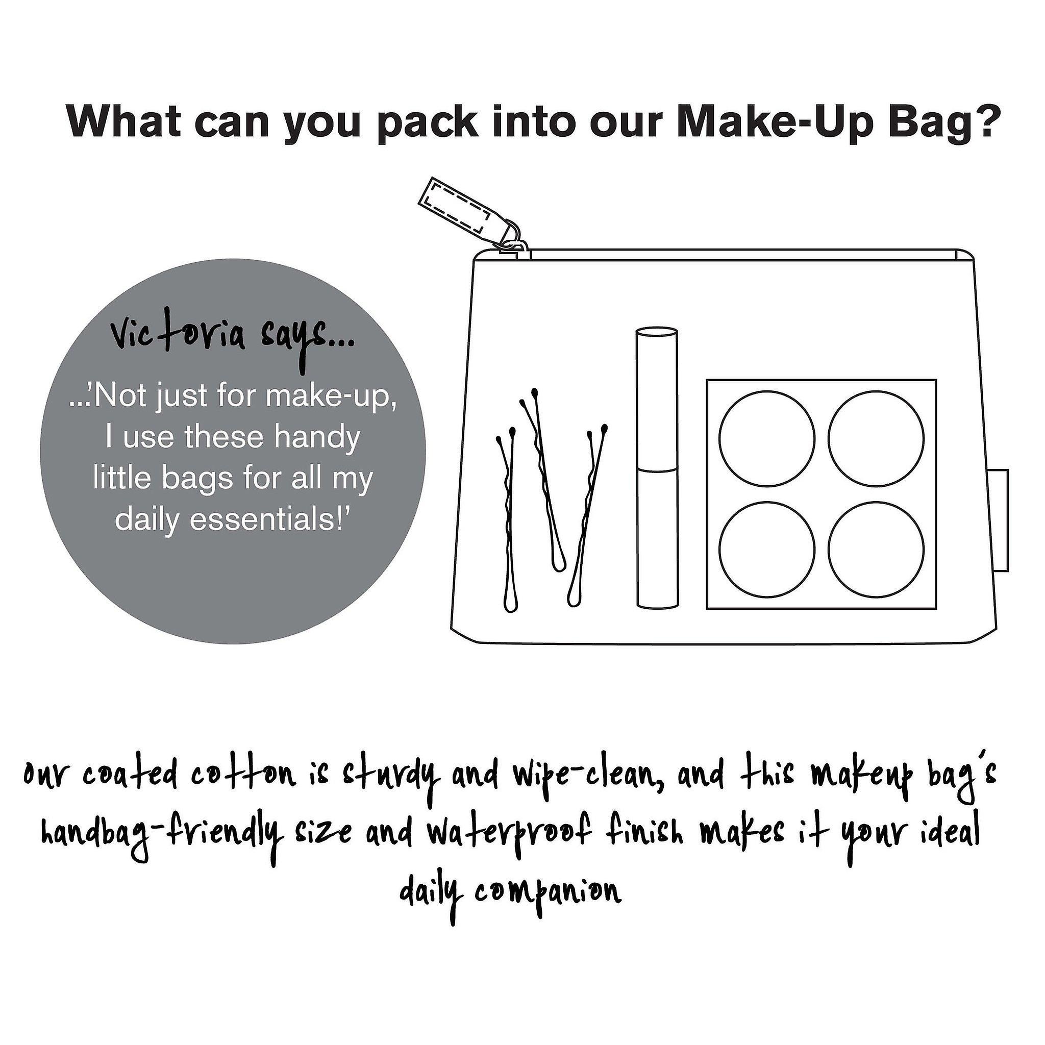 'lorton' make-up bag - smoke