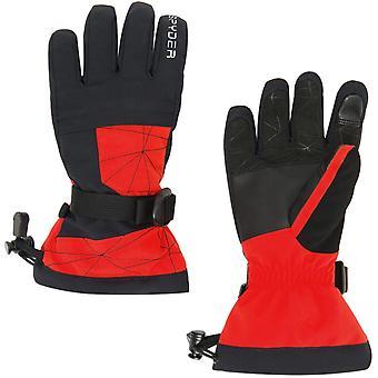 Spyder OVERWEB Gore-Tex Boys Ski Gloves Red
