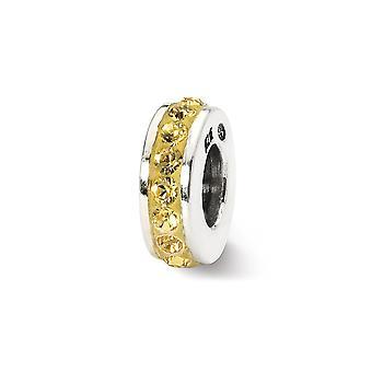 925 plata esterlina pulido reflexiones Nov una sola fila cristal perlas encanto colgante collar joyas regalos para las mujeres