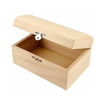 16.5cm Softwood Treasure Chest to Decorate | Pirate Treasure Chests