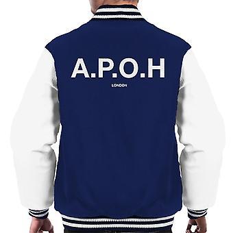 A. P. O. H klassisk hvid logo mænd ' s varsity jakke