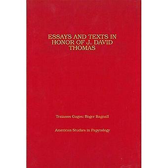 Essays og tekster i ære av J. David Thomas