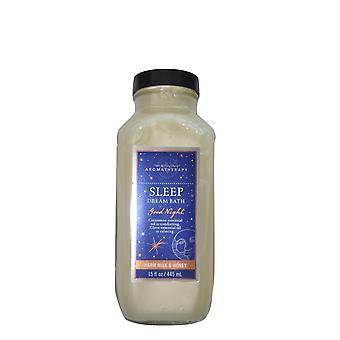 حمام والجسم يعمل الروائح الحليب الدافئ والعسل النوم حلم حمام 15 أوقية / 445 مل