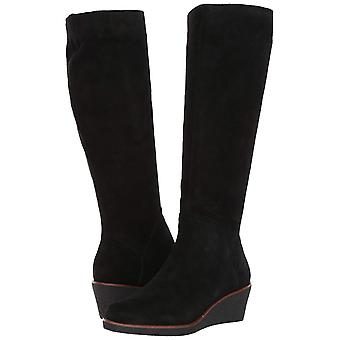 Aerosole Womens Binocular Knie Leder geschlossen Toe Knie hohe Plattform Stiefel