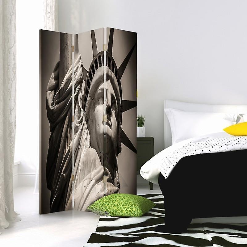 Diviseur de chambre, 3 panneaux, unilatéral, toile, Statue monumentale de la liberté