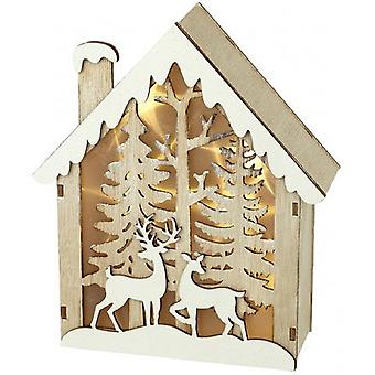 Light Up Wooden Christmas House