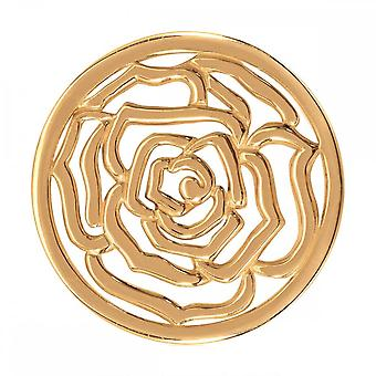 Nikki Lissoni Roses Are Red Medium Gold Plated Coin C1151GM