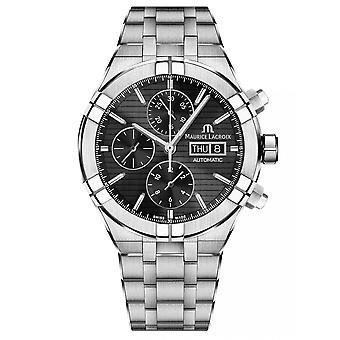Maurice Lacroix AI6038-SS002-330-1 Men-apos;s Aikon Chronograph Wristwatch