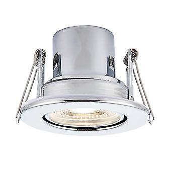 Saxby Lighting Shieldeco Fire Rated Integrated LED Tilt Recessed Light Chrome Plate, Acrylique 78525