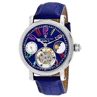 Christian Van Sant Men-apos;s Tourbillon X Limited Edition Blue Dial Watch - CV0992