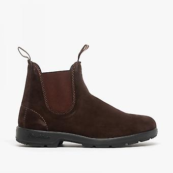 Blundstone 1458 Unisex Suede Chelsea Boots Brown
