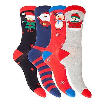 Мужская/Женская рождественская характер дизайна Новинка носки (4 пары)