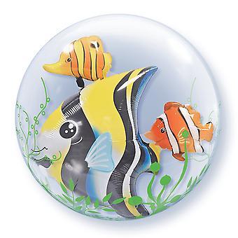 Qualatex 24 Inch Double Bubble tropische vissen partij ballon