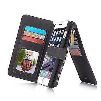 Case For iPhone 6 / 6s Black Multifunction Portfolio