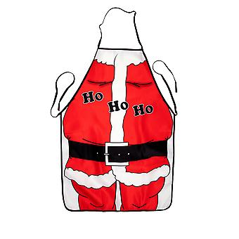 TRIXES Ho Ho Ho Festive Christmas Santa Suit Cooking Apron