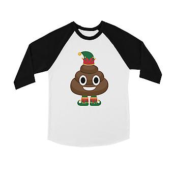 Poop Elf cute BKWT Kids baseball shirt gaver til X-mas