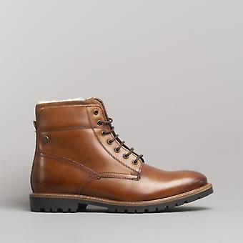 Base London Mortar Mens Couro Botins Lavadotan