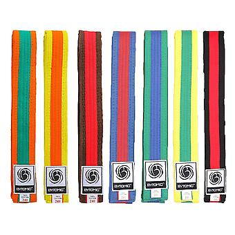Bytomic gekleurde Stripe martial arts riem 10 pack