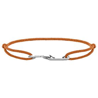 Rochet B226019 armband-liefde staal met koord oranje R Glable mannen