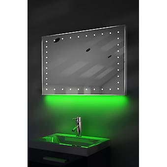 Ambient Ultra-Slim LED Mirror With Demister Pad & Sensor K164B