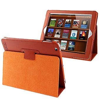 For iPad 2/3/4 Case,Modern Lychee Leather High-Quality Shielding Cover,Orange