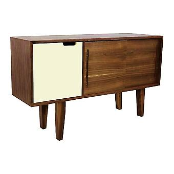 Fusion Living Modern Retro Walnut And Vanilla Mid Sideboard