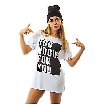 Vogue Oversized Slogan Tee In