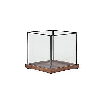 Light & Living Hurricane 23x23x22cm - Chibo Wood Brown-Black-Glass