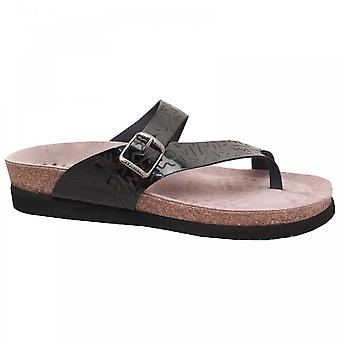 Mephisto Flat Footbed Buckle Detail T-post Sandal