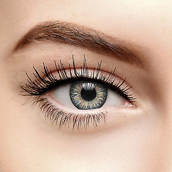 Soft Grey Tri Tone Coloured Contact Lenses (30 Day)