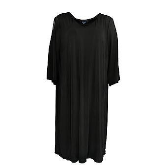 Kelly by Clinton Kelly Plus Dress Cold Shoulder Black A289816