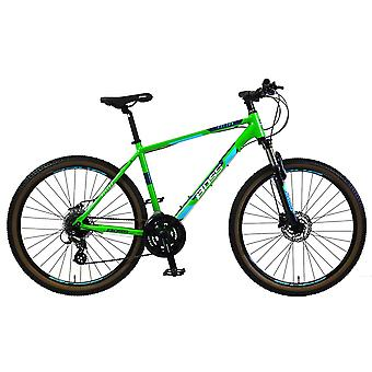 Boss Vision Boys 27.5 Inch Mountain Bike Green/Blue Ages 12 Years+