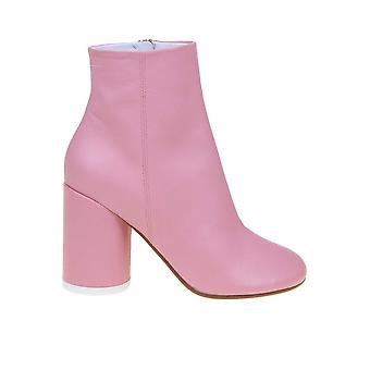 Mm6 Maison Margiela S40wu0183p2809t4291 Femmes-apos;s Pink Leather Ankle Boots