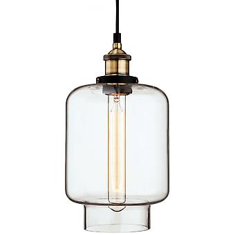 Firstlight Horizon Antique Quirky Clear Glass Jar Ceiling Pendant
