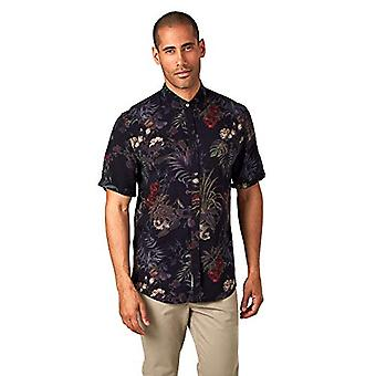7 Diamonds Men's Jade Palace S/S Button Up Shirts, Black, Size XX-Large