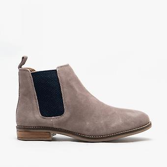 Cipriata Stellira Ladies Suede Twin Gusset Ankle Boot Mink/navy