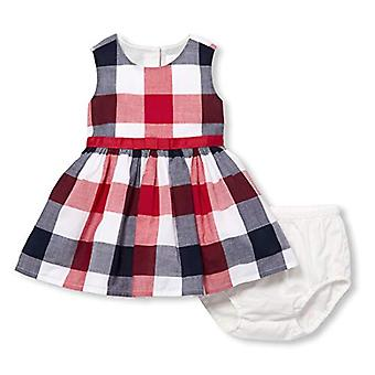 Die Kinder's Place Baby Girls Sleeveless Belted Bloomer Kleid Set, weiß, 0...